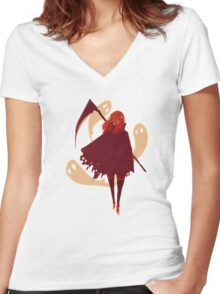 Reaper Girl in the Desert Women's Fitted V-Neck T-Shirt