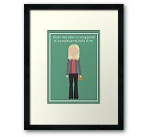 """Leslie Knope: """"Caring Loudly"""" Framed Print"""