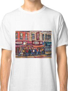 SCHWARTZ'S DELI MONTREAL SMOKED MEAT CANADIAN ART Classic T-Shirt