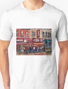 SCHWARTZ'S DELI MONTREAL SMOKED MEAT CANADIAN ART T-Shirt