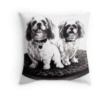 Shih tzu dogs - prints Throw Pillow
