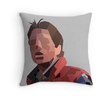 Marty Mcfly Polygons Throw Pillow