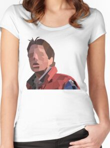 Marty Mcfly Polygons Women's Fitted Scoop T-Shirt