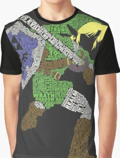 Legend of Zelda - Link - Typography Graphic T-Shirt