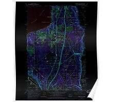 USGS Topo Map Washington State WA Poverty Bay 243265 1961 24000 Inverted Poster