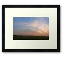 Early spring sunset Framed Print