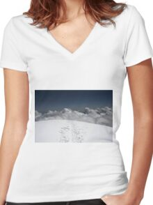 on the top Women's Fitted V-Neck T-Shirt