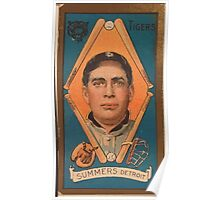 Benjamin K Edwards Collection Edgar Summers Detroit Tigers baseball card portrait Poster