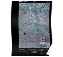USGS Topo Map Washington State WA Rocklyn 20110401 TM Inverted Poster
