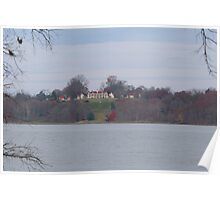 Mount Vernon across the Potomac - November Poster