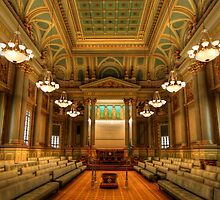 Corinthian Hall - The Masonic Temple by Lori Deiter