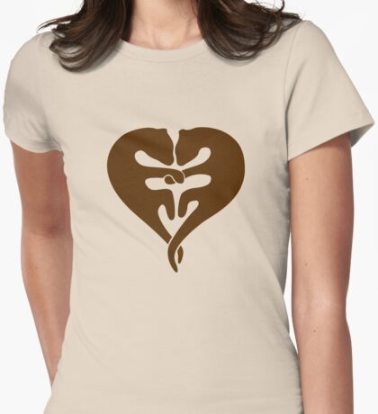 Otters Holding Hands (Heart) T-Shirt
