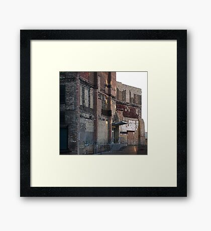 That is called character. Framed Print