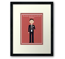 "Chris Traeger: ""Anxiety"" Framed Print"