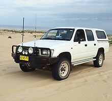 HiLux on Stockton Beach by Joe Hupp