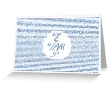 I Am. Greeting Card
