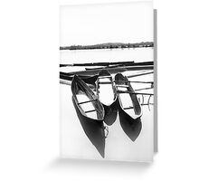 Boats in the river Greeting Card