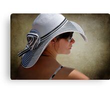 Lady in Hat Canvas Print