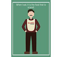 "Ron Swanson: ""When I Eat"" Photographic Print"