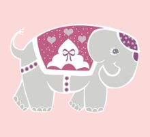 Elephant in pink for girls Kids Clothes