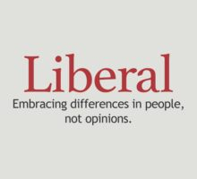 Liberal - Embracing Differences - White by AntiLiberalArt