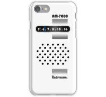 Transistor Radio - 70's White iPhone Case/Skin