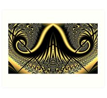 Handlebar Moustache Fractal Art Print