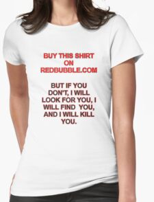 Buy This Shirt Womens Fitted T-Shirt