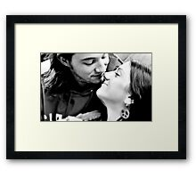 Just Before The Kiss Framed Print
