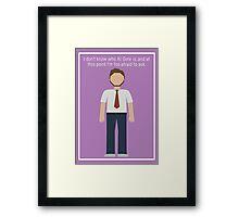 "Andy Dwyer: ""Al Gore"" Framed Print"