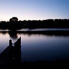 Dusk over Lake Daylesford by John Sharp