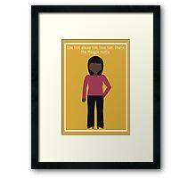 "Donna Meagle: ""Meagle Motto"" Framed Print"