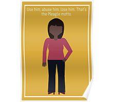 "Donna Meagle: ""Meagle Motto"" Poster"