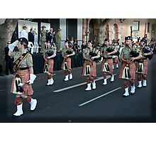 Australian Army Reserves Pipes and Drums Perth Photographic Print