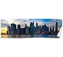 New York Skyline (Colored) Poster