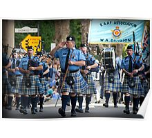 WA Police Pipe Band Poster