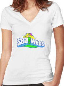 Sea Wees Women's Fitted V-Neck T-Shirt