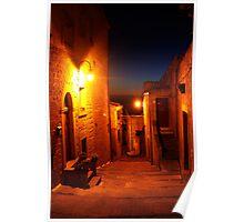 Street View in Calascibetta, Sicily 2012 Poster