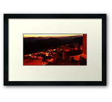 Sunset over the Roofs of  Calascibetta, Sicily 2012 Framed Print