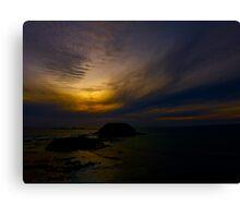 Melting Sea Sunset Canvas Print