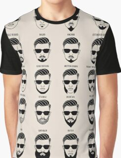 beard style guide poster Graphic T-Shirt