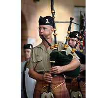Australian Army Reserves Pipes and Drums Photographic Print