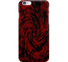 Black & Red Swirl iPhone Case/Skin