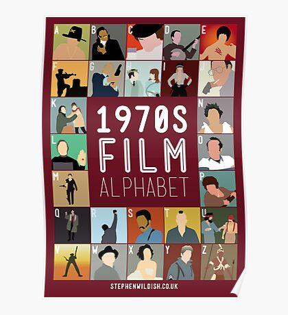 1970s Film Alphabet Poster