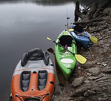 trio of kayaks by gaylene