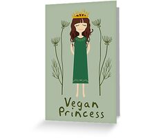 Vegan Princess Greeting Card