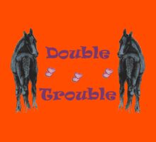 Cute Double Trouble Foals T-shirts Kids Clothes