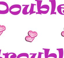 Cute Double Trouble Foals T-shirts Sticker