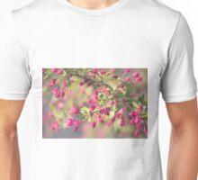 Cherry blossom buds blurred Unisex T-Shirt