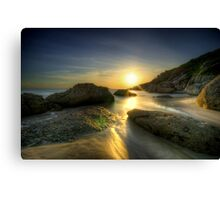 Squeaky Beach Sunset Canvas Print